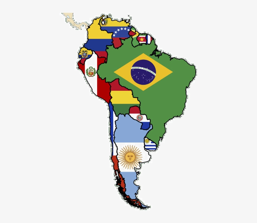 Map Of America Png.Flag Map Of South America Plus Flag Maps From Around Latin America