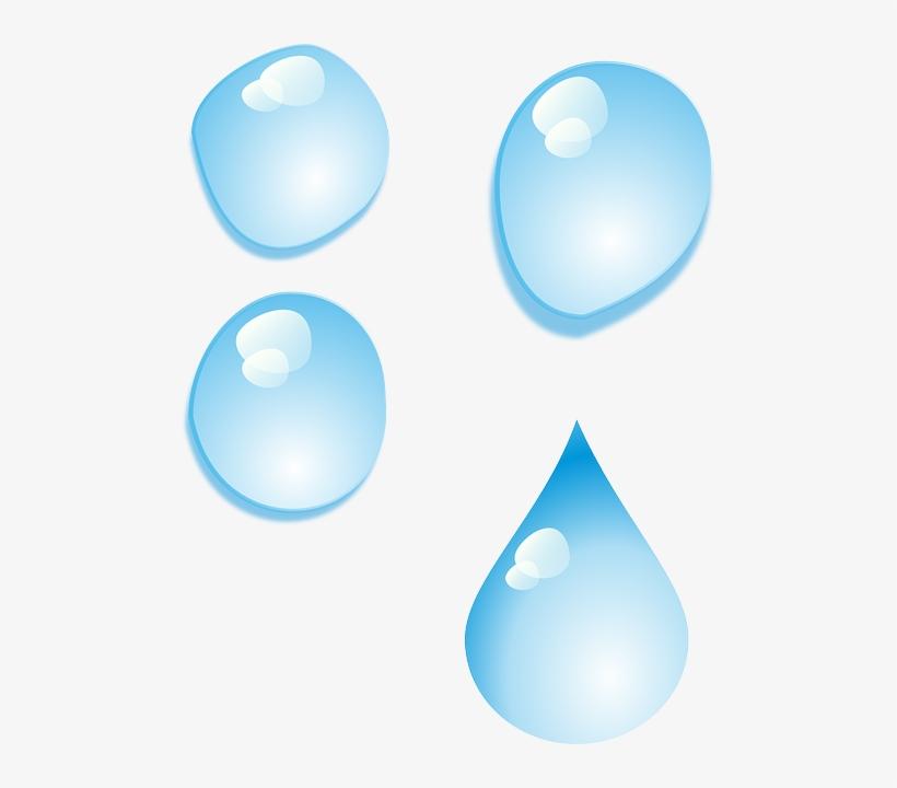 Set, Cartoon, Rain, Drop, Drops, Tear, Teardrop - Water Drops, transparent png #224250