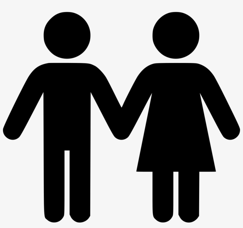 Couple Comments - Two People Holding Hands Clipart, transparent png #225303