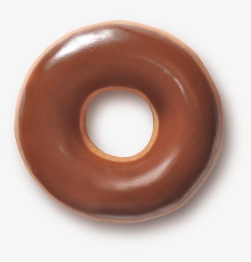 Dunkin Glazed Donut Pencil And In Color - Krispy Kreme Chocolate Doughnut, transparent png #226615