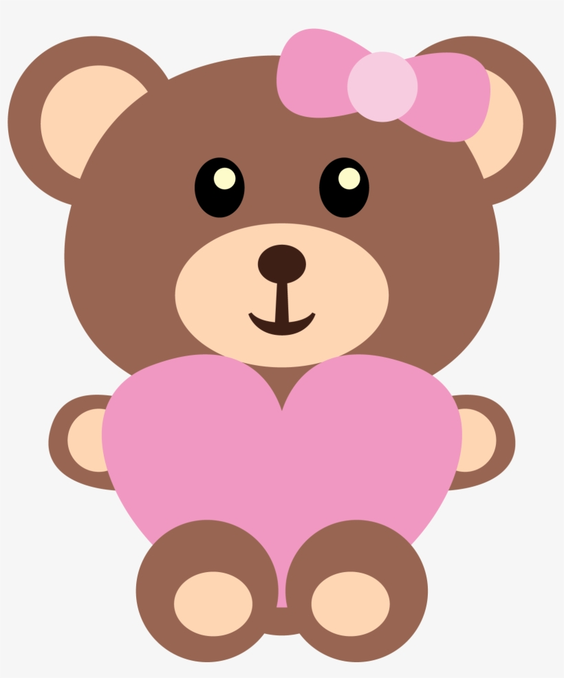 Pin By Pic Pic Festas On Urso - Girl Teddy Bear Clip Art, transparent png #226616