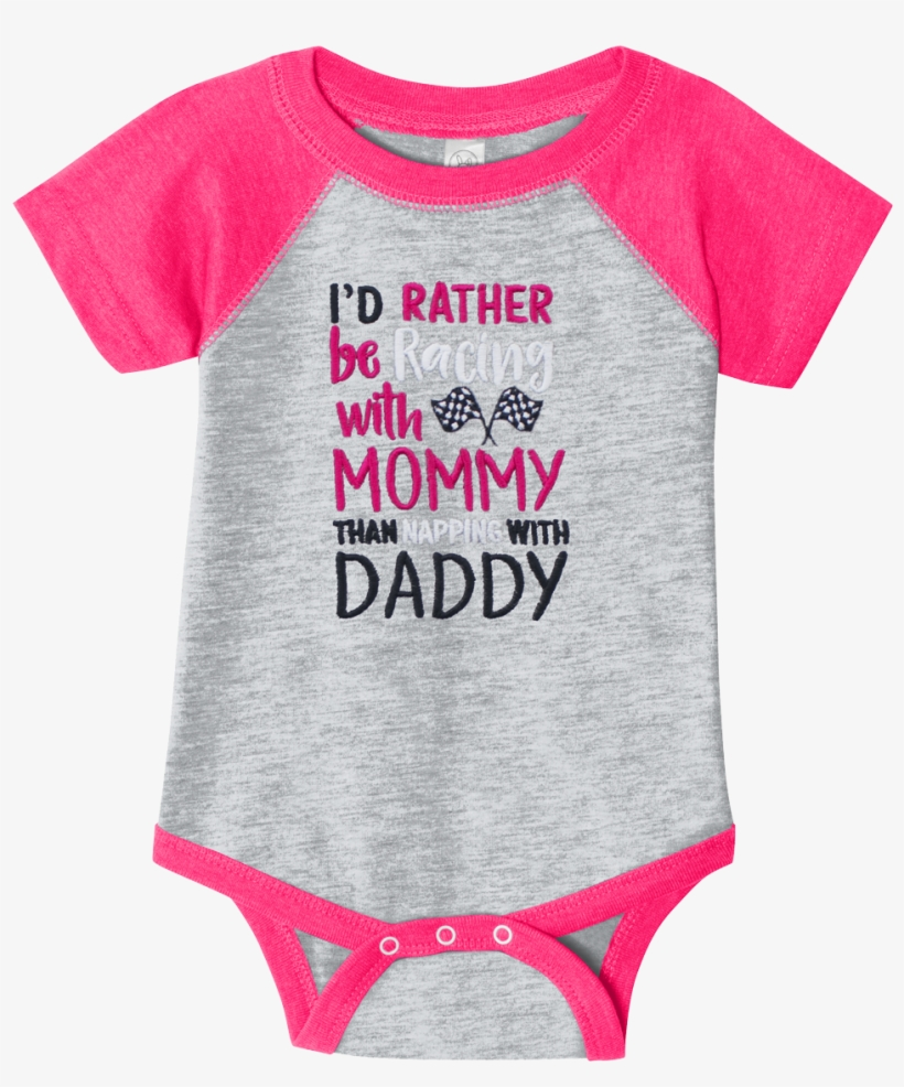 I'd Rather Be Racing W/mommy Embrd Onesie - Big And Little Sister And Brother Jerseys, transparent png #227355