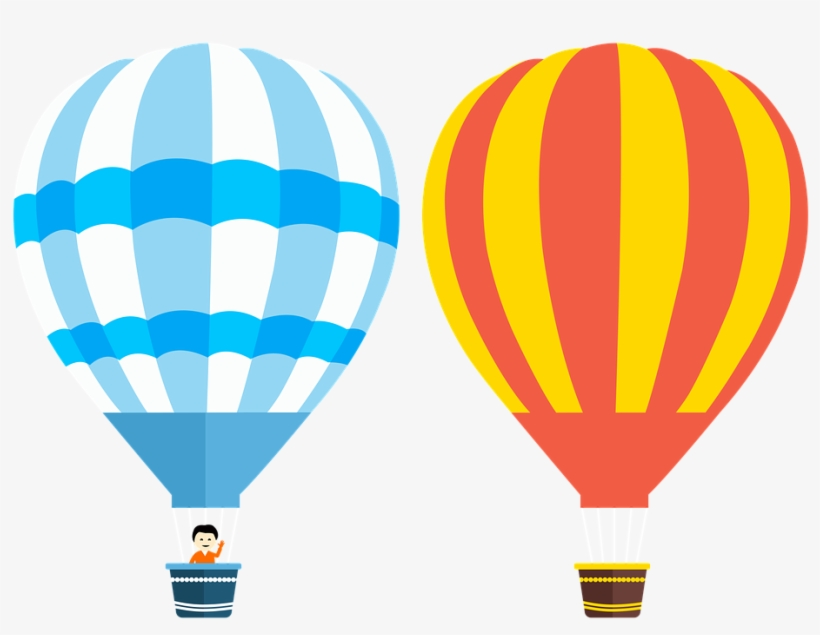 Hot Air Vector,flying,adventure - Blue Hot Air Balloon Vector Png, transparent png #227517