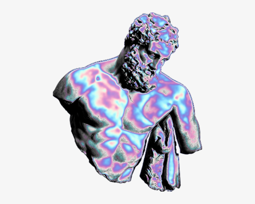holo holographic vaporwave aesthetic tumblr freetoedit statue png