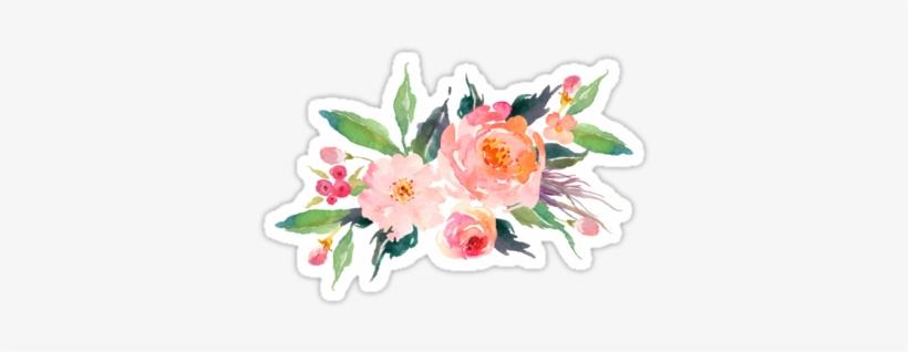 Picture Free Download Watercolor Flower Bouquet Sticker - Watercolor Floral Bouquet Png, transparent png #228315