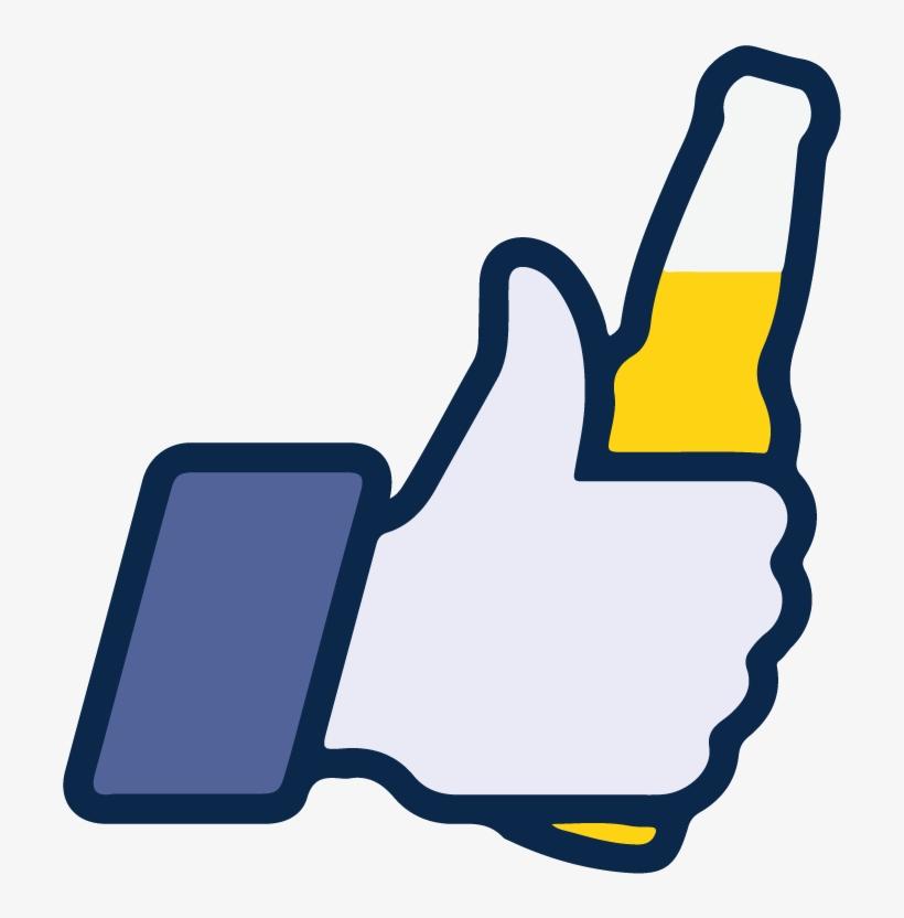 facebook like beer icon vector logo thumbs up like logo