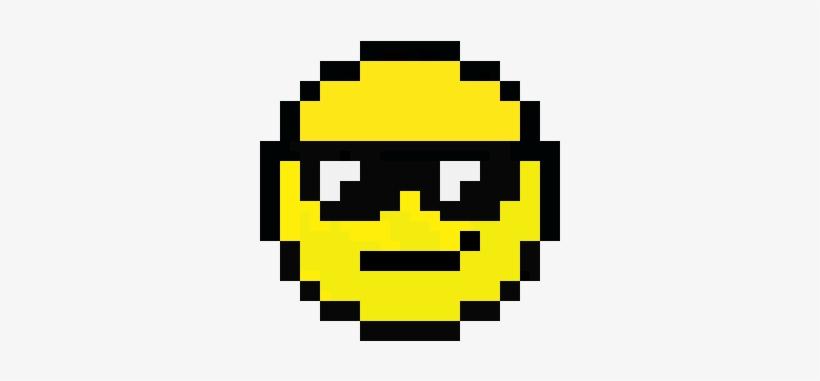 Cool Face Emoji - Pixel Art Emoji, transparent png #2205696