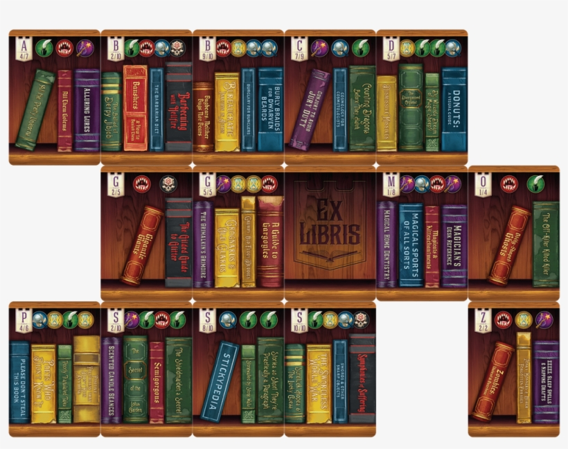 Librarian Free Bookshelve Huge Freebie Download - Ex Libris Board Game Cards, transparent png #2205727