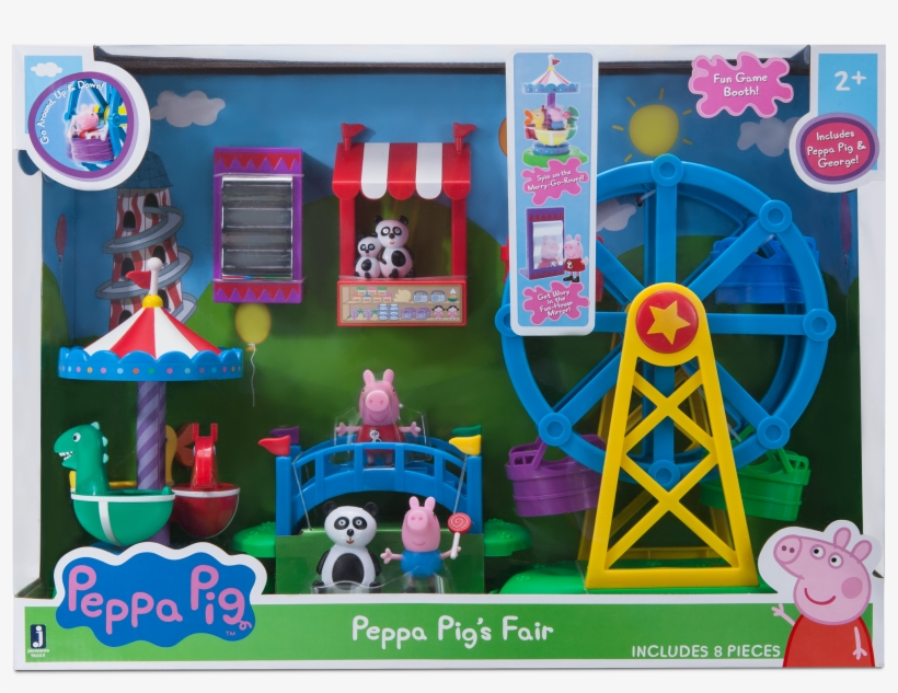 Peppa Pig Fun Fair Playset Png Peppa Pig Playset - Peppa Pig, transparent png #2209364