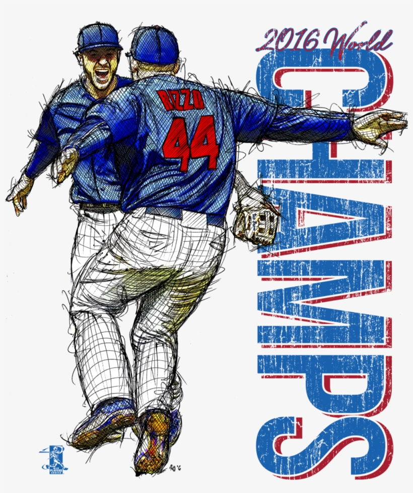 Anthony Rizzo Kris Bryant Champs B, transparent png #2210340