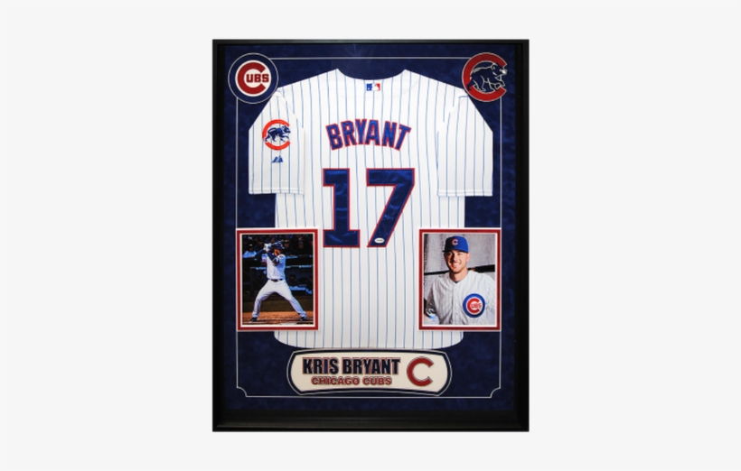Kris Bryant Authentic Signed Jersey - Kris Bryant Chicago Cubs Deluxe Framed Autographed, transparent png #2211223