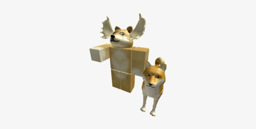 Much Doge Roblox Real Character Free Transparent Png Download