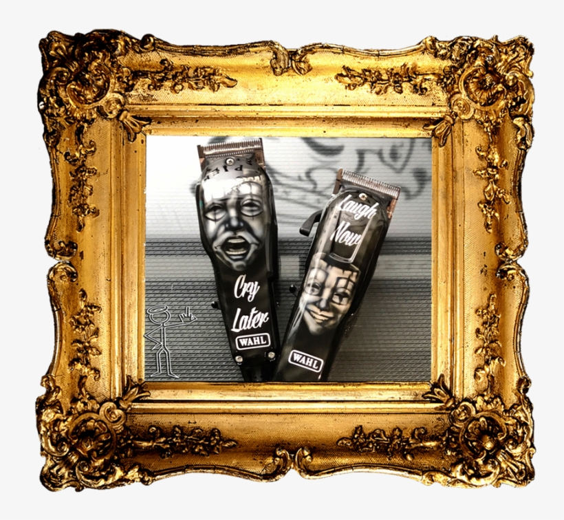 Custom Painted Wahl Clippers - Golden Frame Png, transparent png #2217870