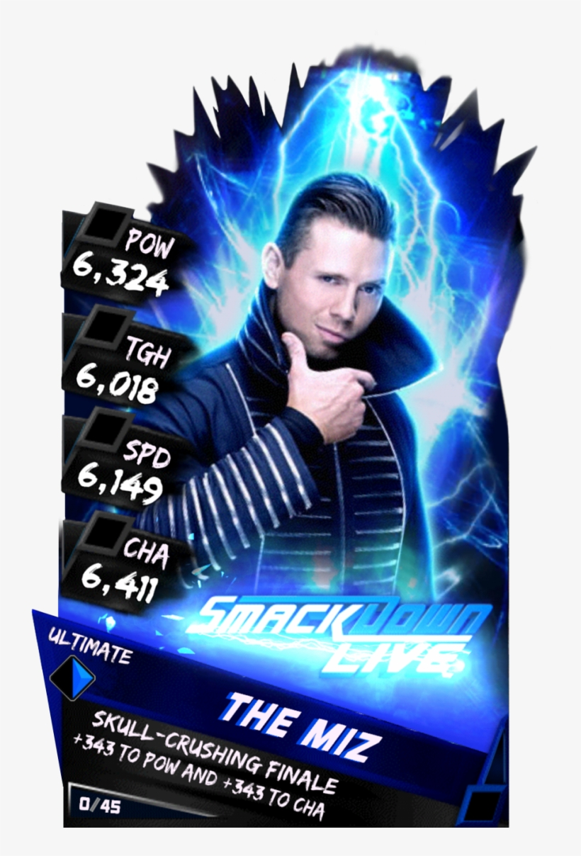 Themiz - Wwe Supercard Elite Cards, transparent png #2218173