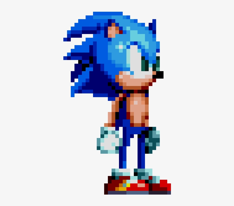 Modern Sonic Sonic The Hedgehog Pixel Art Free Transparent Png Download Pngkey
