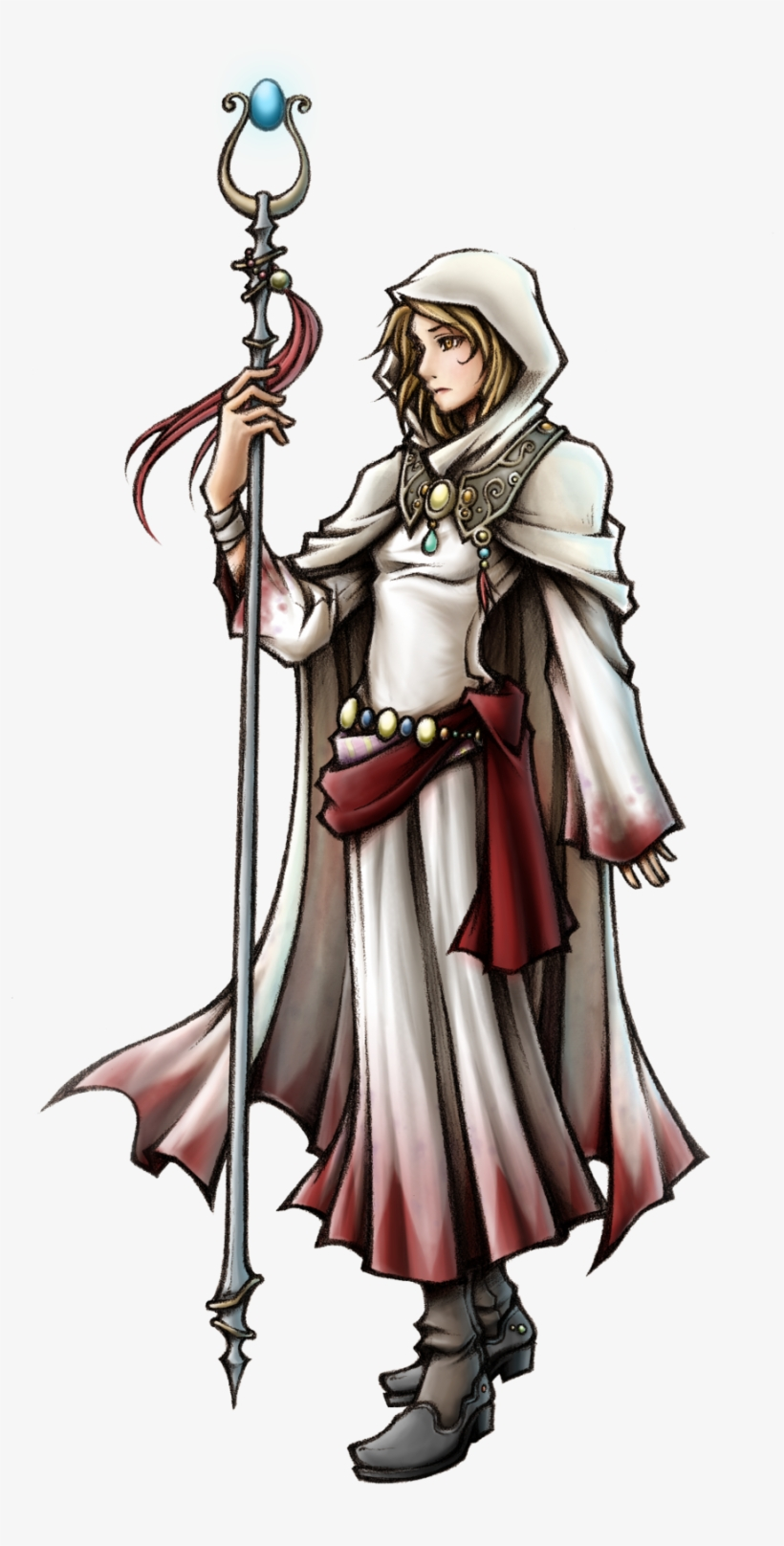 New Priest - White Mage Final Fantasy Art, transparent png #2221269