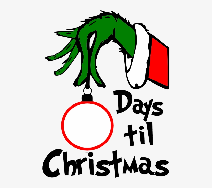 Grinch Face Png For Vinyl On Crocut Vector Transparent - Grinch Countdown To Christmas, transparent png #2221721