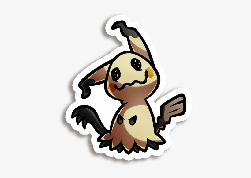 Mimikyu Vinyl Sticker - Dr. Martens Women's Short Sleeve T-shirt Black/oxblood, transparent png #2221825