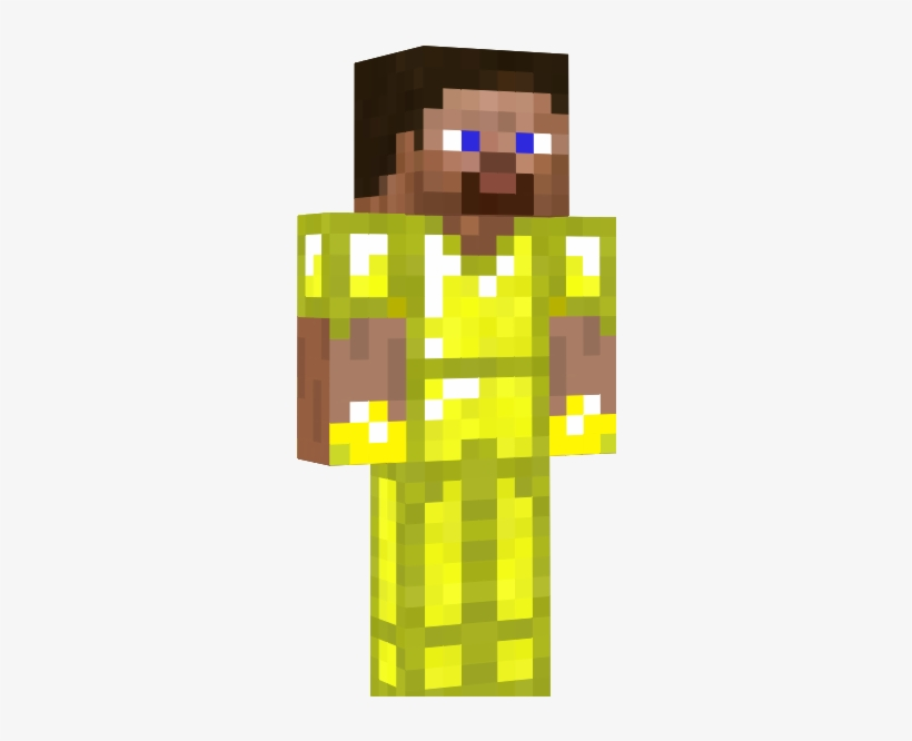 Gold Cuffed Steve Minecraft Pictures Of Steve With - Steve In Golden Armor, transparent png #2221933
