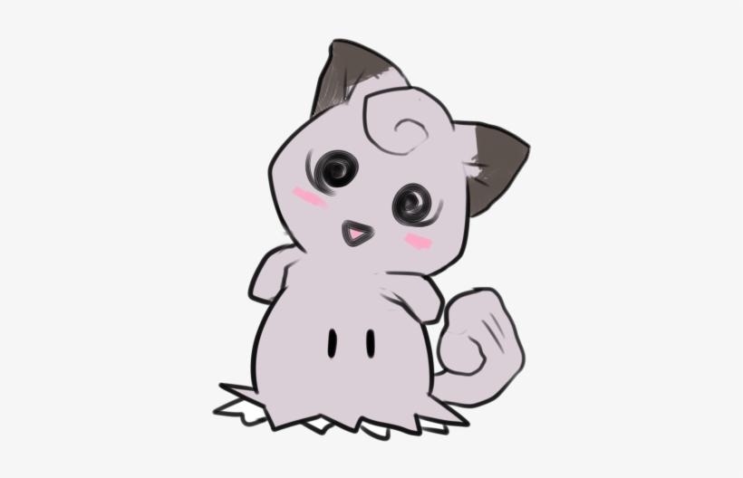 Pikachu Cat White Black Pink Mammal Small To Medium - Clefairy Mimikyu, transparent png #2222215