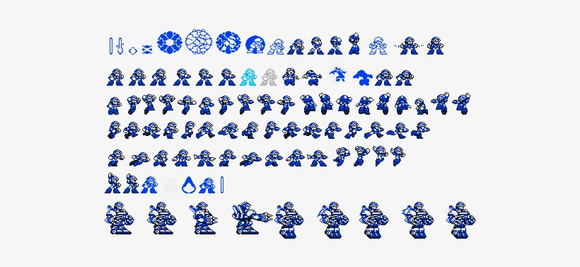 Megaman Unlimited Sprites - Mega Man Gameboy Sprites - Free