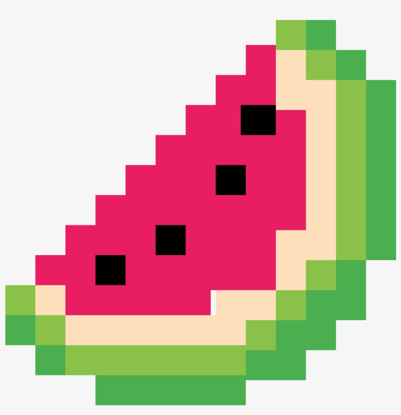 Watermelon Minecraft Simple Pixel Art Free Transparent