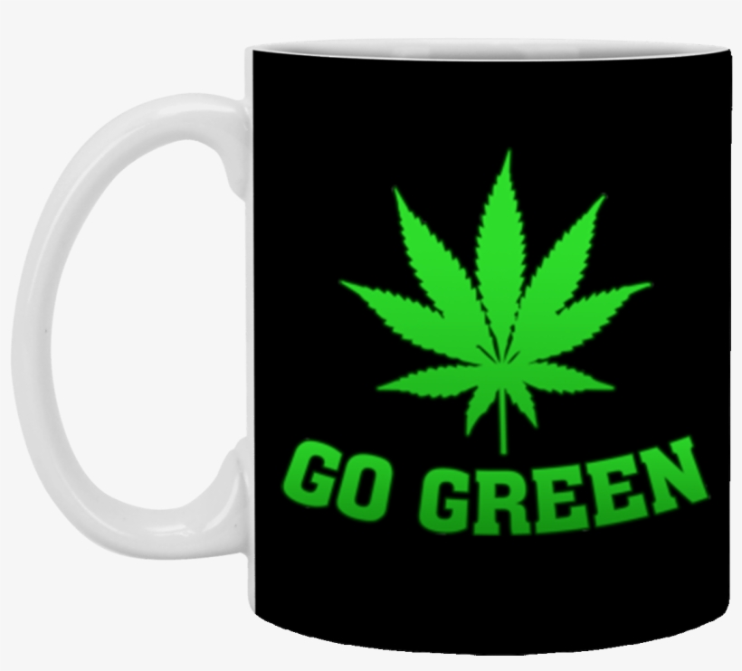 Go Green Weed T Shirt Vape Nation Marijuana Leaf 420 - Fast Food Vs Marijuana, transparent png #2226210