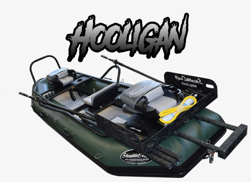 Hooligan Fly Fishing Raft - Rigid-hulled Inflatable Boat, transparent png #2228110