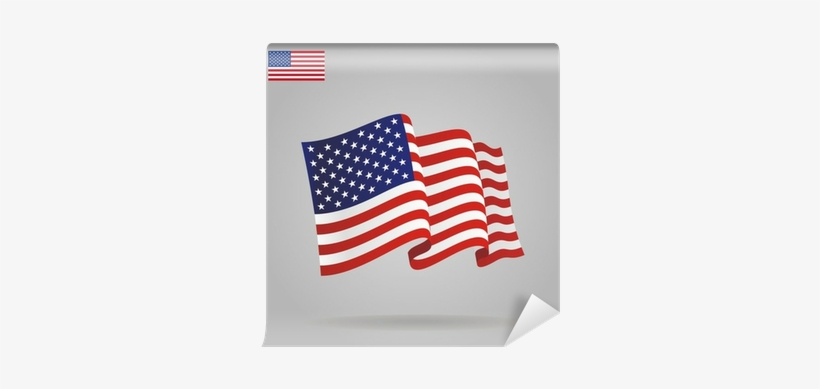 Flat And Waving American Flag - American Flag, transparent png #2228450