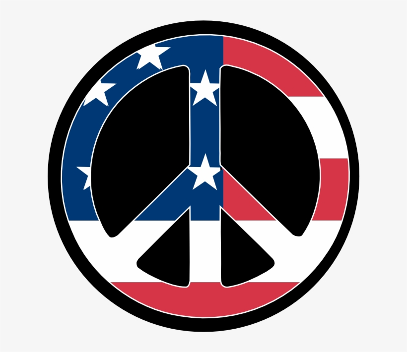Scalable Vector Graphics Us Flag Peace Symbol Scallywag - Red White And Blue Peace Sign Hand, transparent png #2228531