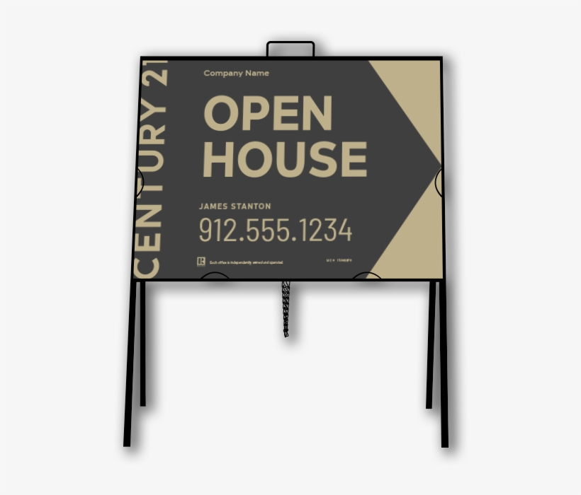 Century 21 A-frame Open House Sign - Century 21 New Signs, transparent png #2228748