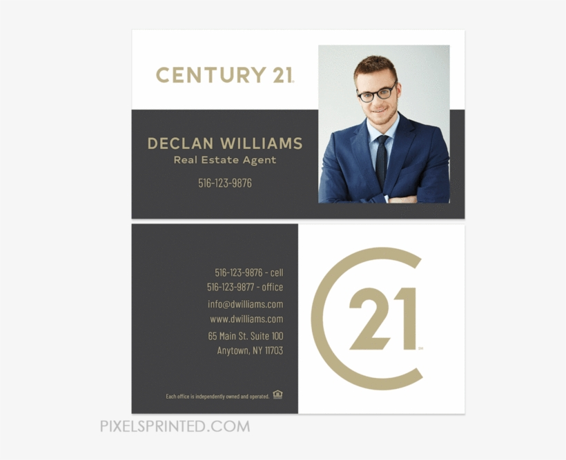 New Century 21 Logo Cards, Century 21 Business Cards, - Bc Real Estate Business Card, transparent png #2229036