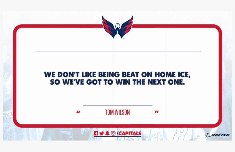 @tom Wilso - Washington Capitals, transparent png #2235142