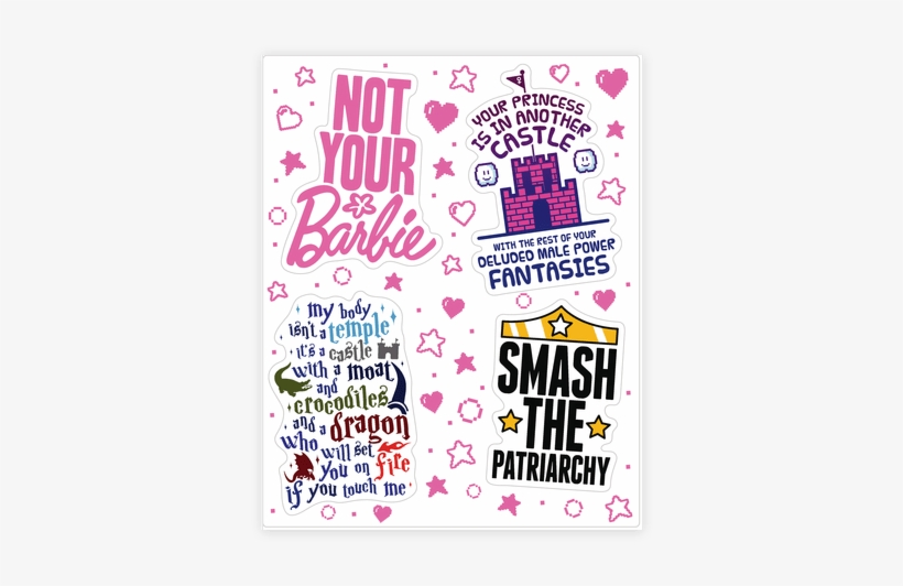 photo relating to Printable Sticker Sheets called Feminist Sticker Png - Printable Sticker Sheets Feminist