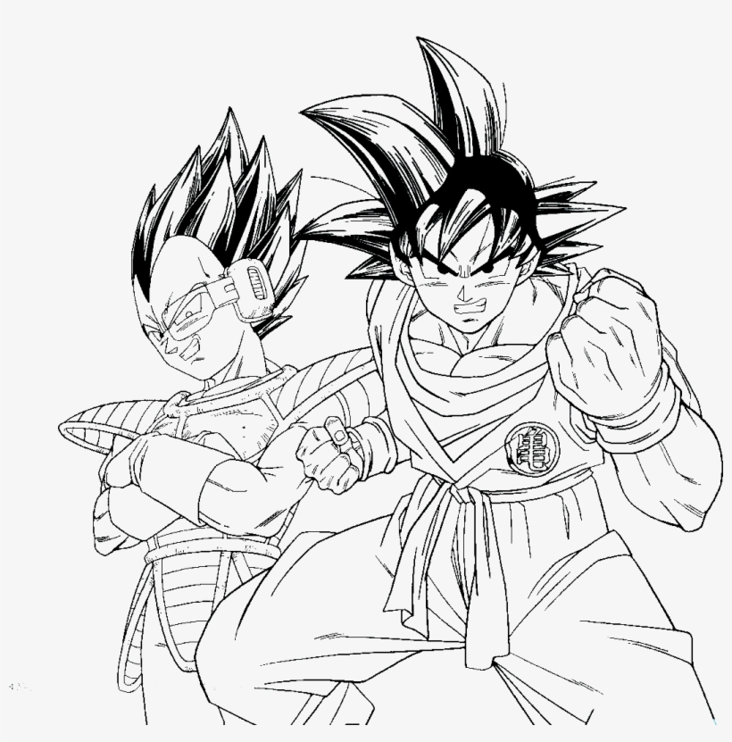 Dbz Kid Buu Coloring Pages - Goku And Vegeta Coloring Pages, transparent png #2239733