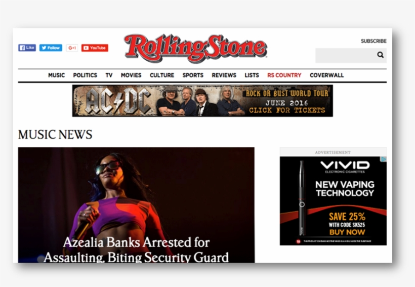 Ac/dc Rock Or Bust - Rolling Stone Cover, transparent png #2239738