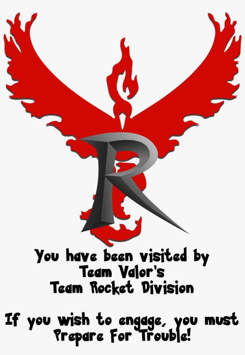Team Rocket Division - Team Valor Is Team Rocket, transparent png #2246529