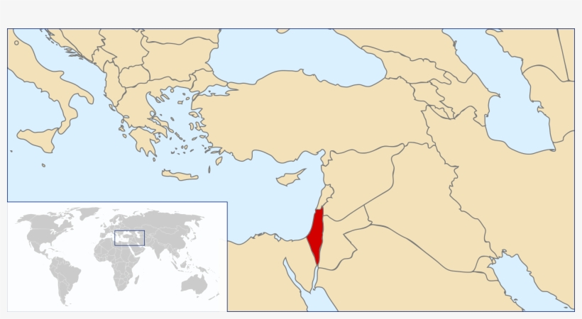 World Map Blank - Palestine Location On Map, transparent png #2250205