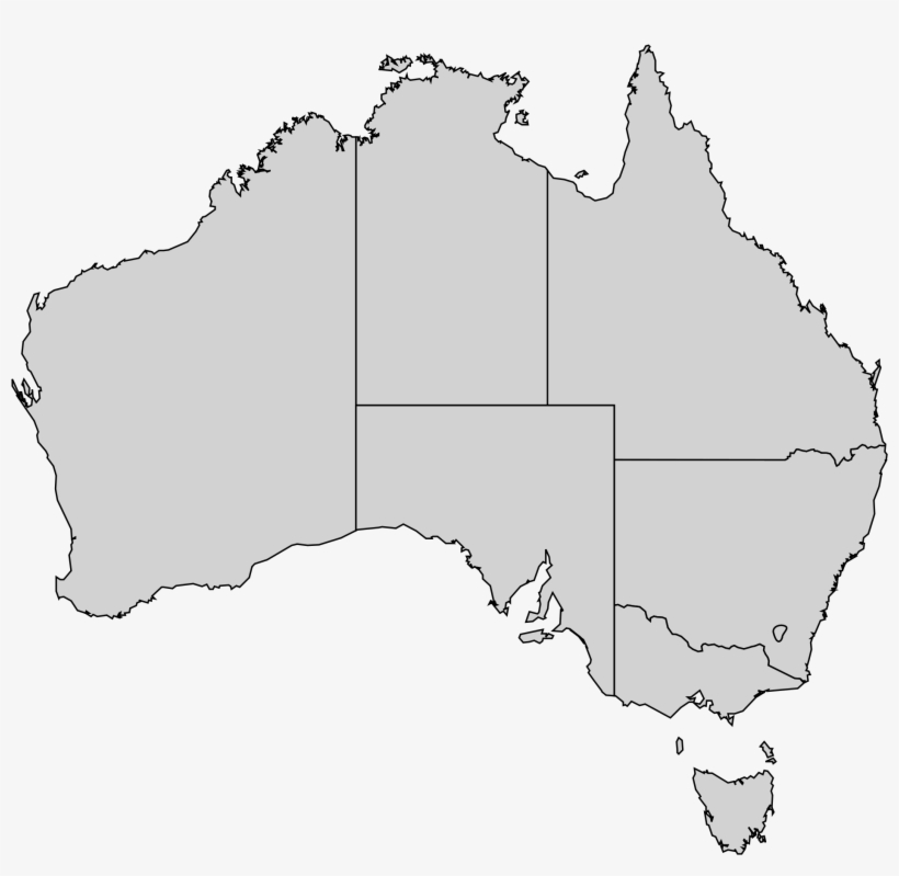 Australia Map Transparent.Australian States Map 17 Excellent Outline File Australia