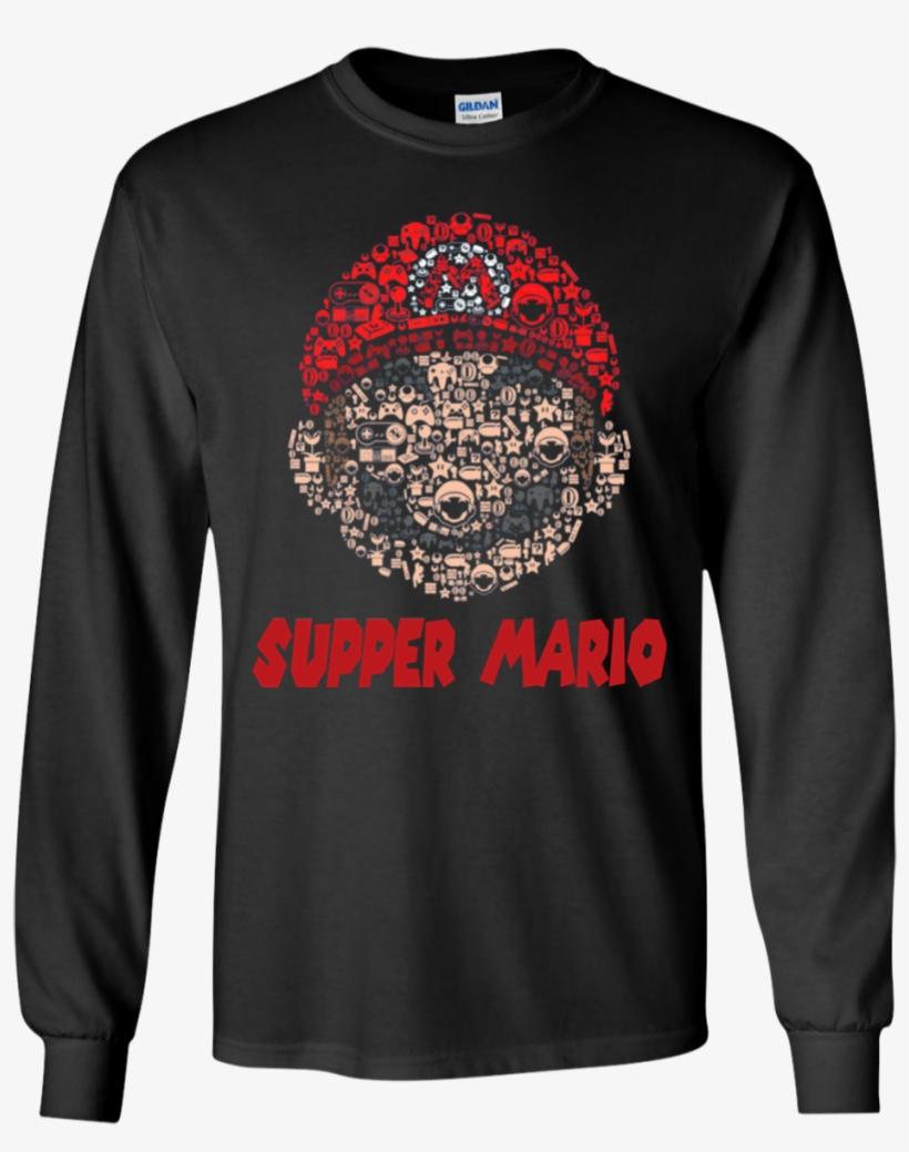 Mario Head Brothers Retro Gaming Parody Shaped Mashup - Mickey Mouse Nike Shirt, transparent png #2252318