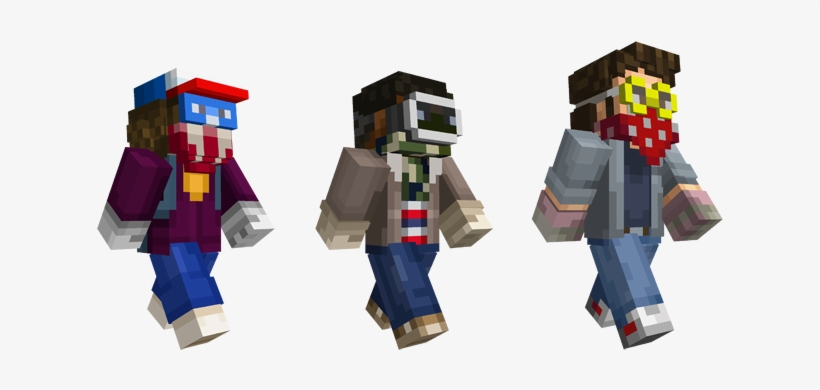The Skin Pack's Available To Download Right Now So - Stranger Things All Skins Minecraft, transparent png #2255911