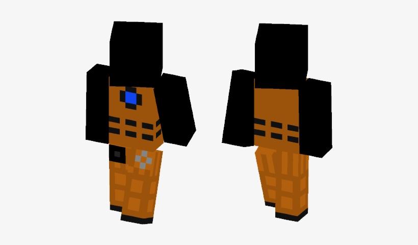 Time War Dalek - Dark Blue Hair Girl Minecraft Skin, transparent png #2259394