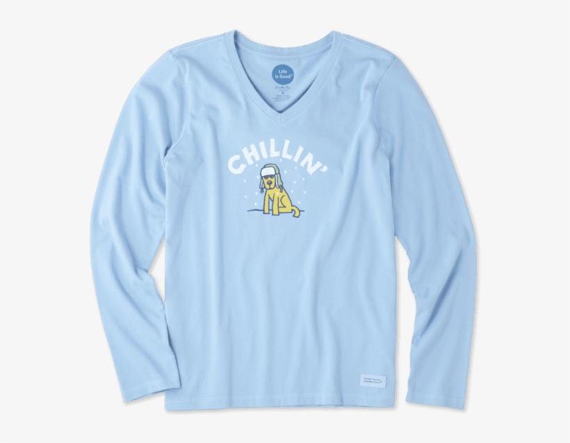 Women's Chillin' Rocket Long Sleeve Crusher - Long-sleeved T-shirt, transparent png #2260147