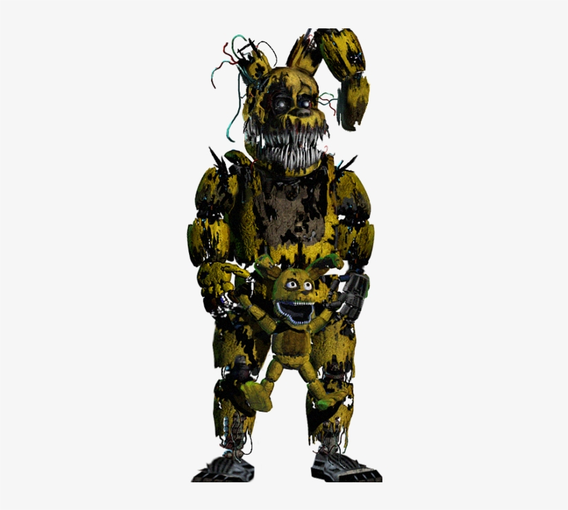 Five Nights At Freddys 4 Png Nightmare Springtrap And Plushtrap
