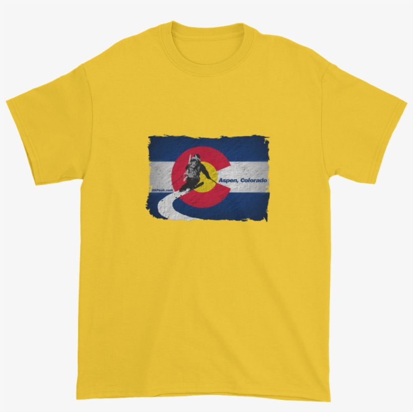 Colorado Flag Downhill Skiing T-shirt - Long As I Have A Face You Have A Place To Sit Shirt, transparent png #2260797