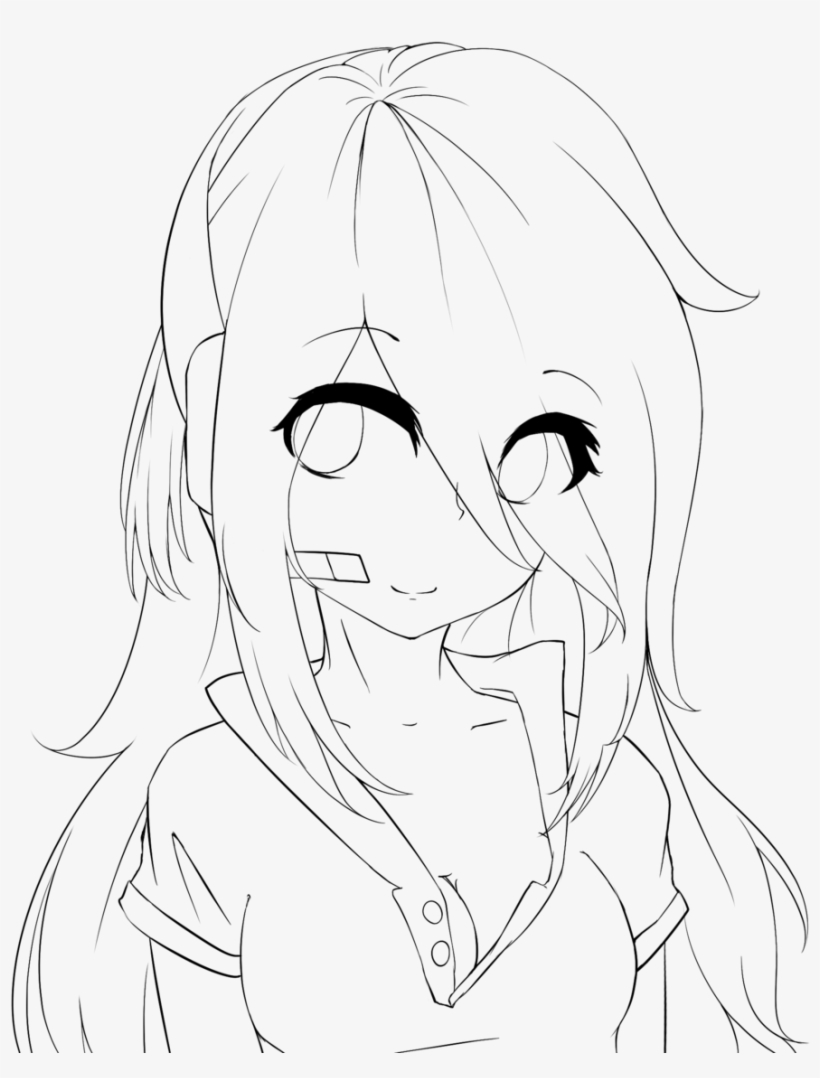 Lineart practice girl deadlox by holdspaceshift anime girl base with eyes