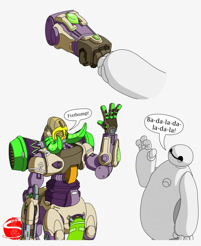 Orisa & Baymax Text - Overwatch Orisa And Baymax, transparent png #2261905