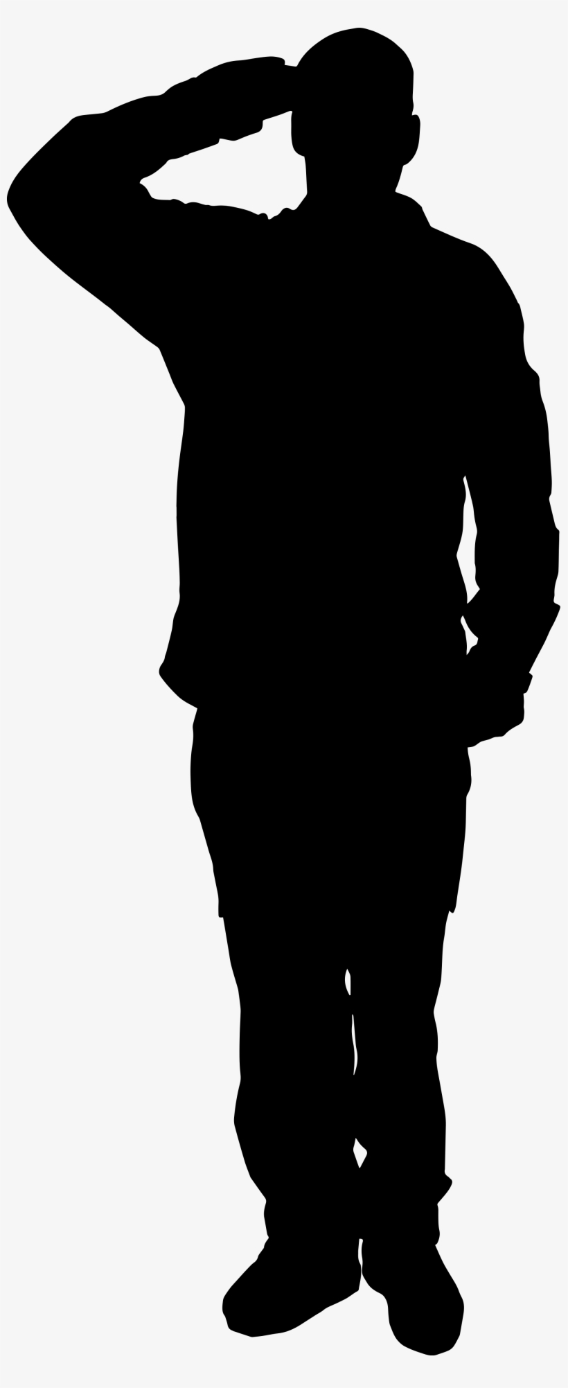 Army Clipart Ww1 Soldier - Soldier Silhouette, transparent png #2262212