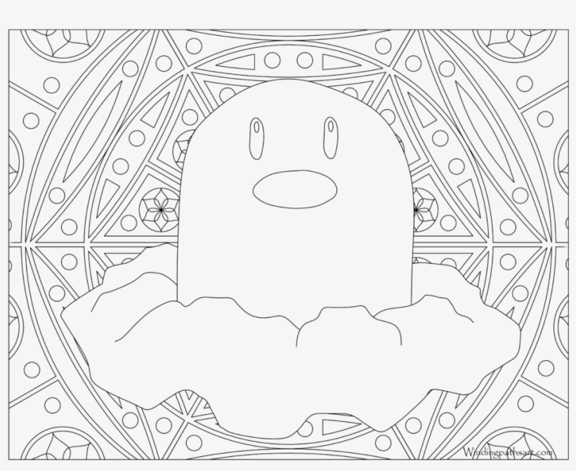 Adult Pokemon Coloring Page Diglett - Pokemon Adult Coloring Pages, transparent png #2262436