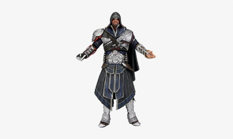 Big Assassin S Creed Brotherhood Ezio 7 Onyx Hooded - Assassins Creed Action Figure Ezio Onyx, transparent png #2264137